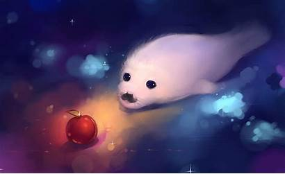 Seal Apple Wallpapers Fur Animals Background Anime
