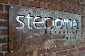metal cut out exterior signage exterior sign pinterest With metal cut out letters