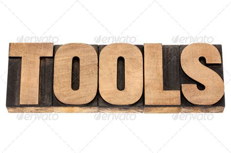 word tools tools word in wood type stock photo by pixelsaway photodune
