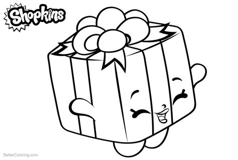 Shopkins Coloring Pages Present