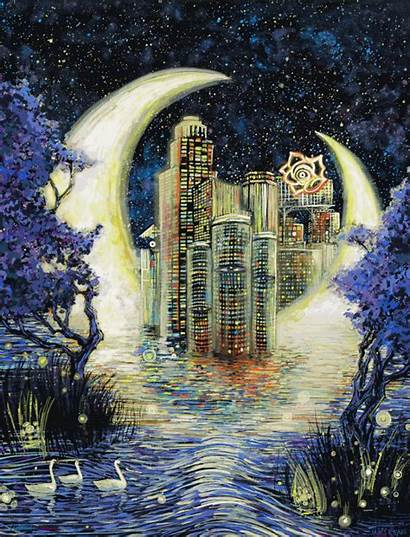 James Eads Acrylic Paintings Animated Covered Broken