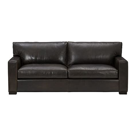 axis ii leather 2 seat sofa espresso crate and barrel