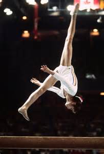Comaneci Floor Routine by 1976 Summer Olympics Montreal Stock Photos And Pictures