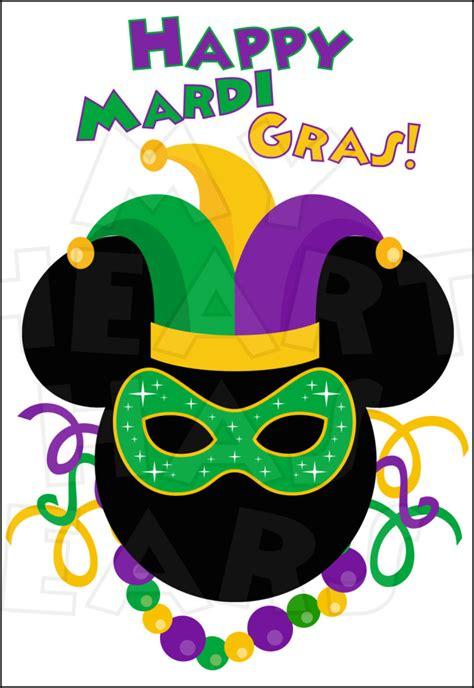 mardi gras mickey mouse instant  digital clip art