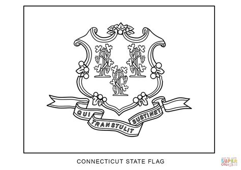 Flag Of Connecticut Coloring Page Free Printable