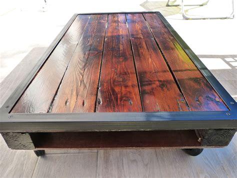 table basse palette industrielle fabriquer une table en bois de palette avant la