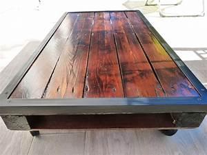 Fabriquer Une Table Basse En Palette : fabriquer une table en bois de palette elegant avant la du canap juavais hte de me dbarasser de ~ Melissatoandfro.com Idées de Décoration