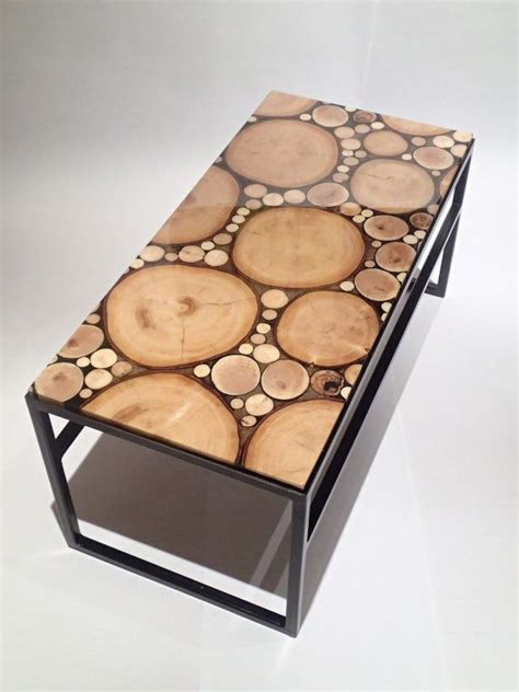 wood  steel coffee table  steelthatwood  etsy