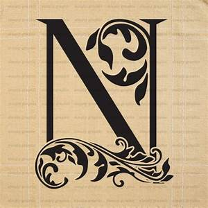 Large initial letter n wall decor letter stencil for Large letter k wall decor