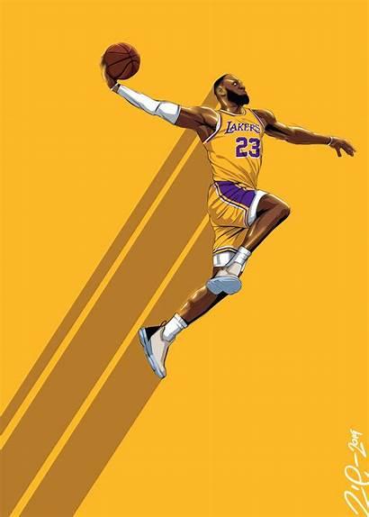 Lebron Lakers James Vector Nba Poster Basketball