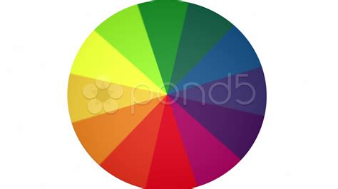 spinning color wheel spinning color wheel contains looping section hd