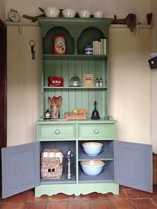 Vintage, Kitchen, Dresser, Hand, Painted, In, Farrow, U0026ball, U0026, 39, Calke