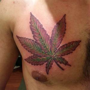 Cannabis Sativa Leaf Tattoo Although, that purp and green ...