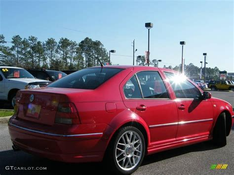 tornado red volkswagen jetta gli  sedan