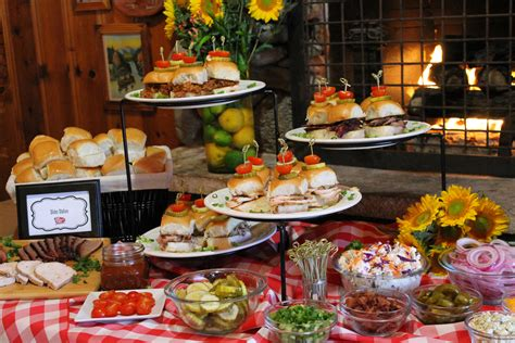 Bbq Party Buffet Ideas Pulled Pork Turkey And Moist
