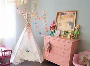Tipi Chambre Fille : pinterest 5 jolies chambres de petite fille ~ Teatrodelosmanantiales.com Idées de Décoration