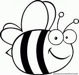Coloring Clipart Bee Bees Library Clip sketch template
