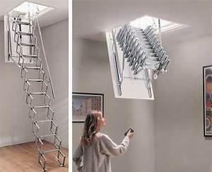Escalier Escamotable Grenier : escalier grenier electrique ~ Melissatoandfro.com Idées de Décoration