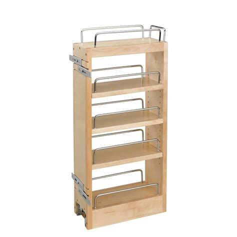 Pull Out Bookcase by Rolling Shelves 22 In Do It Yourself Pullout Shelf