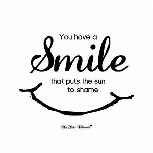 Cute Smile Happ... Sun And Smile Quotes