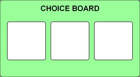 choice board template choice board 3 options visual supports choices board and autism