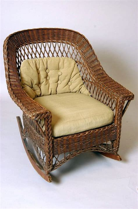 a mid century modern heywood wakefield wicker rocking