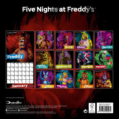 nights freddys calendars ukposterseuroposters