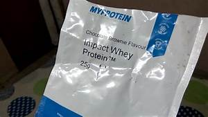 Myprotein Impact Whey Protein Chocolate Brownie Flavor Review