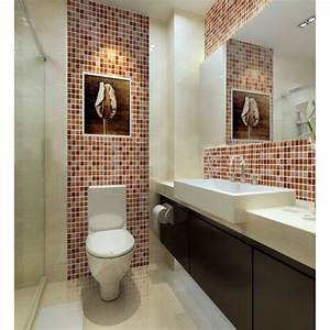 Crystal glass mosaic tile sheet wall stickers kitchen for Cheap wall tiles for bathroom