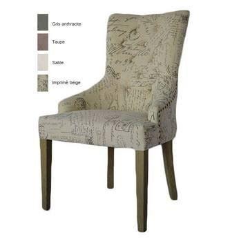 chaises capitonn es chaise capitonnee en tissu arina