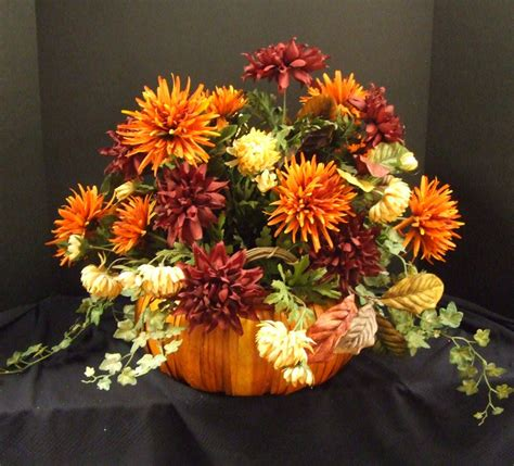 fall flower arrangements fall floral arrangement pumpkin centerpiece fall table