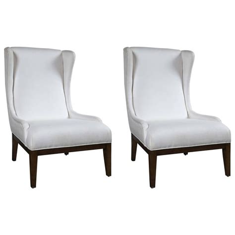 pair of unique wing chairs for sale at 1stdibs
