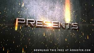 free movie titles intro after effects youtube With custom video intro templates