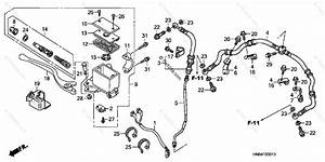 Honda Atv 2007 Oem Parts Diagram For Front Brake Master Cylinder   U0026 39 06