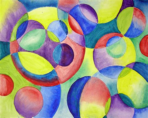 Abstract Painting Using Shapes by Shapes Paintings