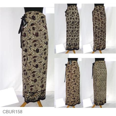 baju batik rok lilit jarik motif sogan bawahan rok