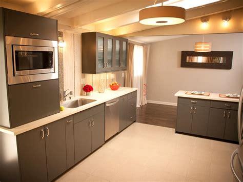 renovated midcentury modern kitchen surface mounted light