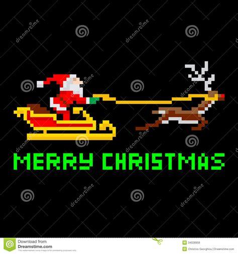 best pixel merry christmas retro pixel santa stock vector illustration of artwork graphic 34028958