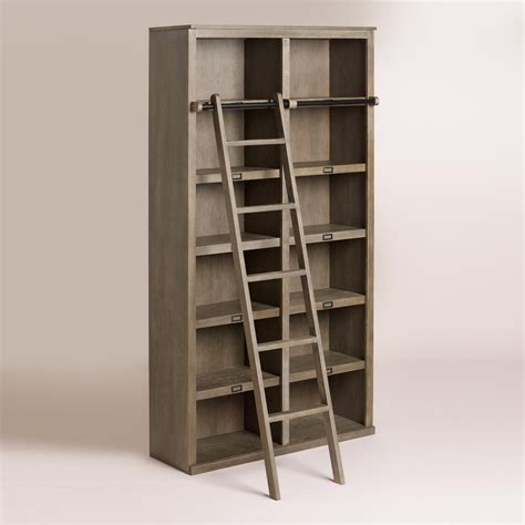 world market bookcase gray augustus library shelving world market
