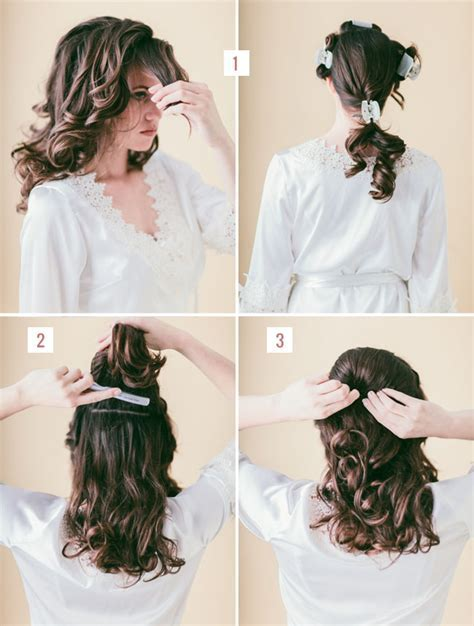 Hair Tutorial: Loose Braided Updo   Green Wedding Shoes