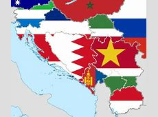 Flag map of Yugoslavia confused domains by hosmich on