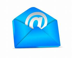 3D Blue Email Icon PSD