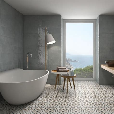 Modernes Bad Fliesen by 59 Modern Grey Bathroom Tile Ideas Wartaku Net