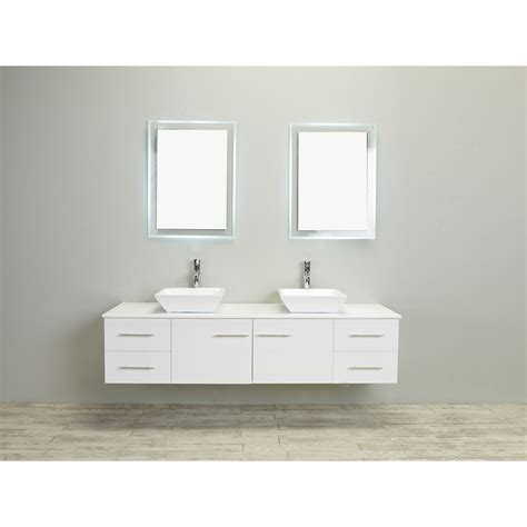 eviva totti wave 60 inch white modern sink bathroom vanity with counter top and