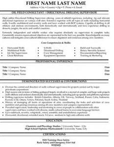Oilfield Cover Letter Directional Drilling Supervisor Resume Sle Template