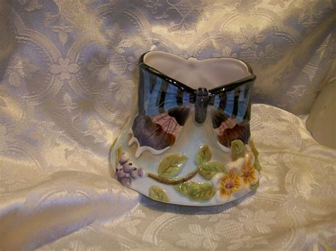 Home Interior Butterflies : Home Interiors & Gifts Ceramic Candle Capper Shade