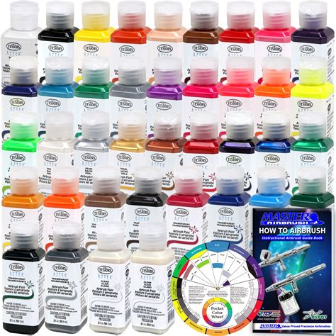 complete 38 color testors aztek premium acrylic airbrush