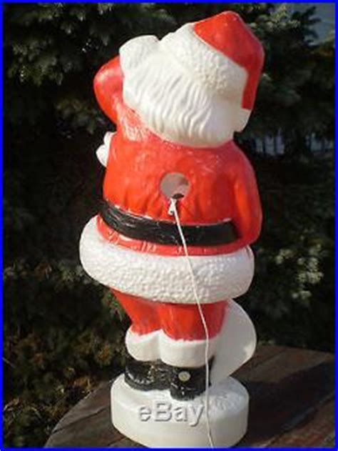 union products  blow mold santa claus lighted christmas