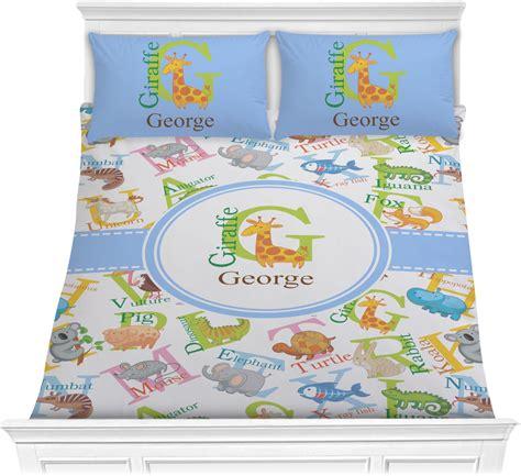 animal alphabet comforter set full queen personalized