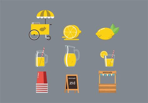 free images clipart free lemonade stand vector free vector